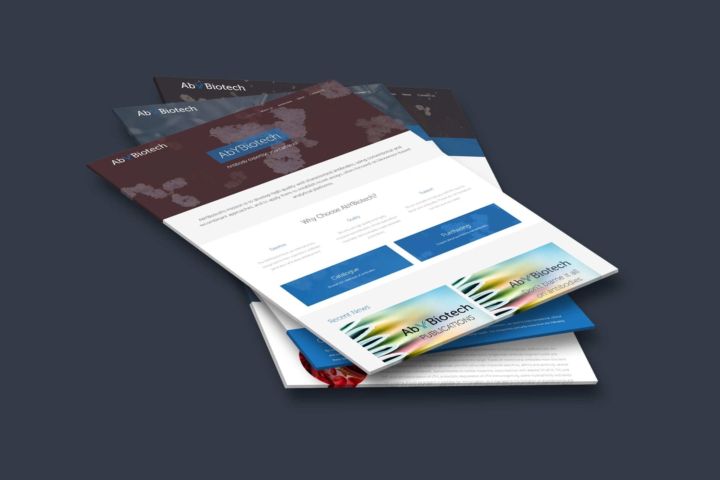 Abybiotech Website Mockup