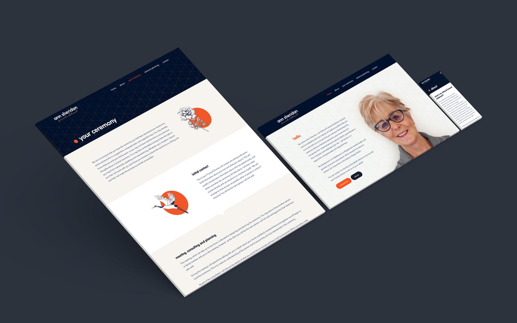 Ann Sheridan Website Mockup